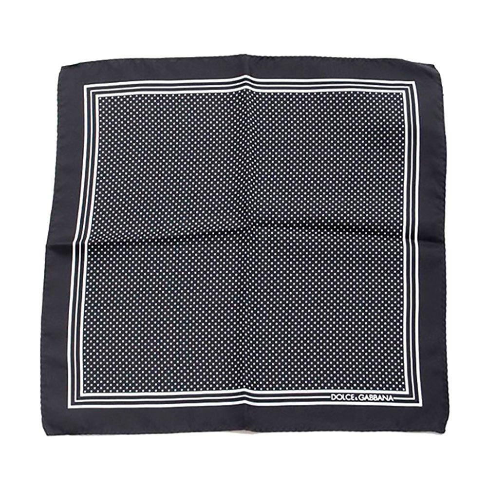 Dolce & Gabbana 733132 Silk Handerkerchief One Size Black
