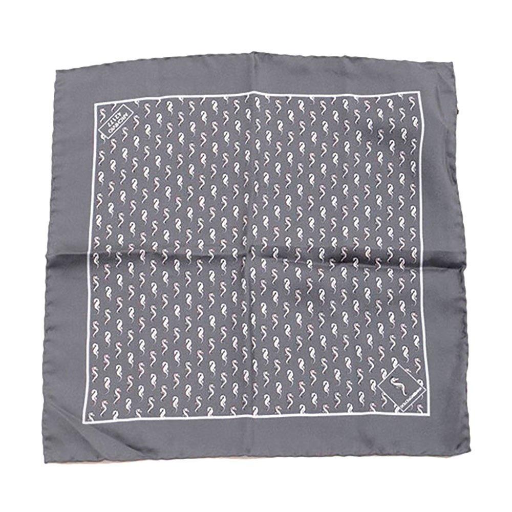 Dolce & Gabbana 733150 Silk Handerkerchief One Size Dark Grey