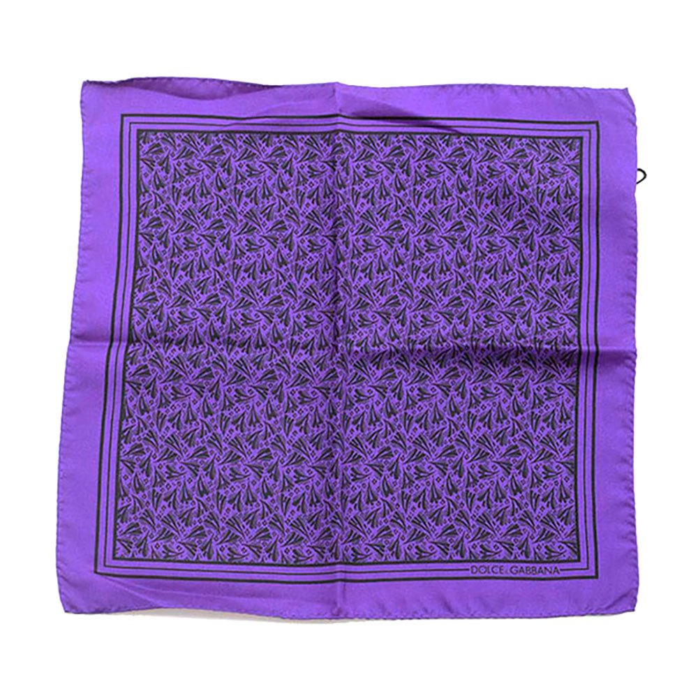 Dolce & Gabbana 733157 Silk Handerkerchief One Size Purple