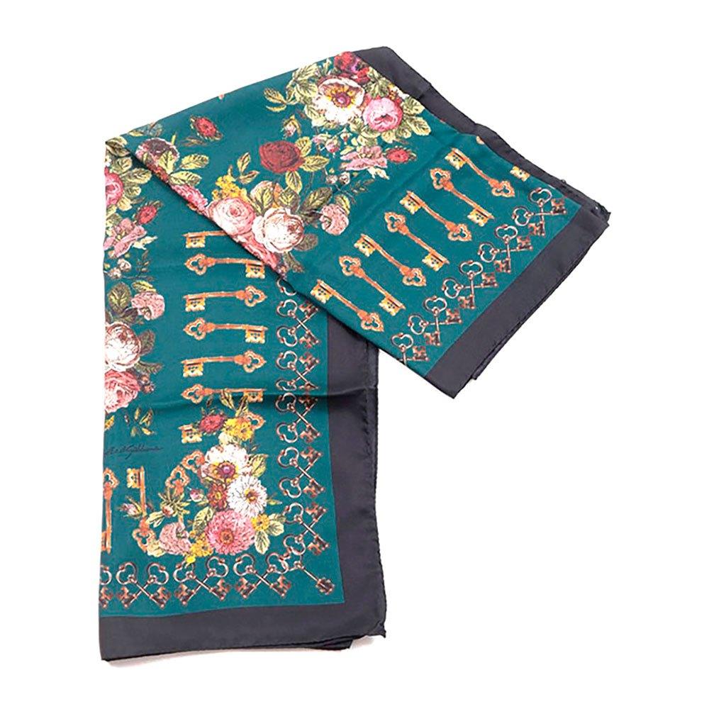 Dolce & Gabbana 733215 Silk Foulard One Size Dark Green