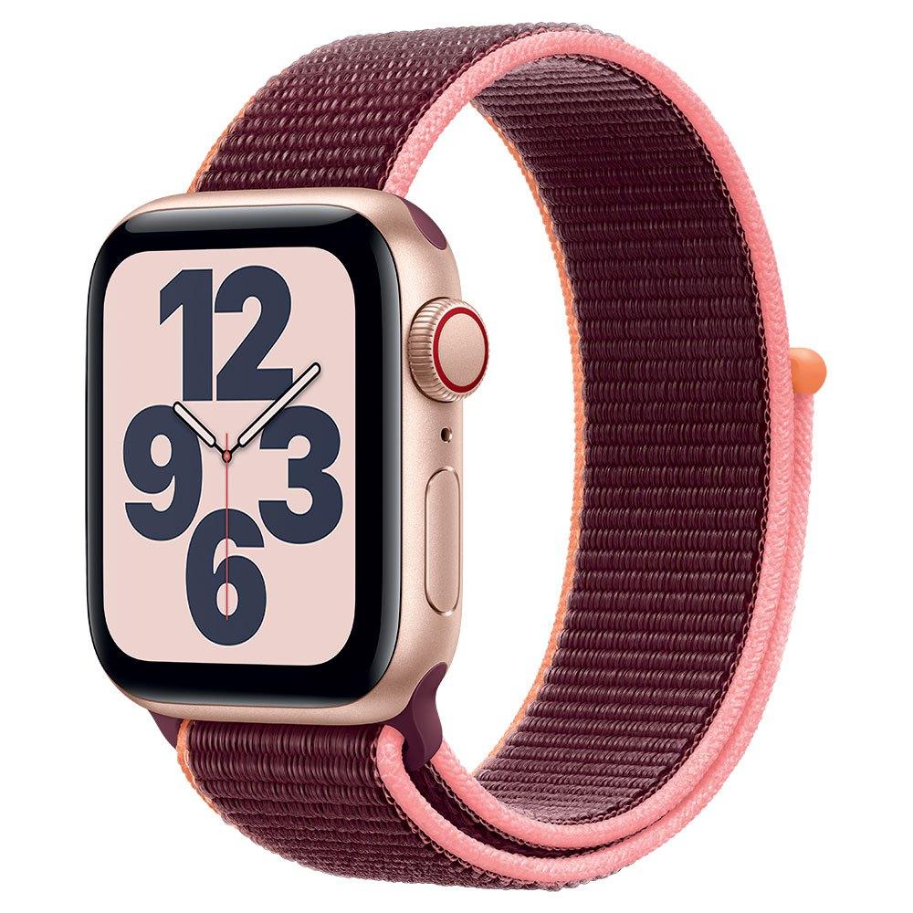 Apple Watch SE Cellular 40 mm aluminio dorado correa Loop deportiva ciruela