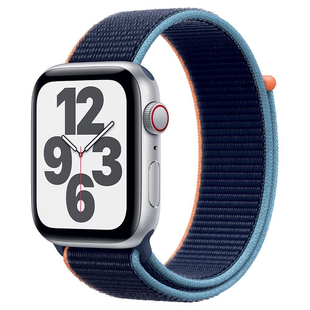 Apple Watch SE Cellular 44 mm aluminio plateado correa Loop deportiva azul