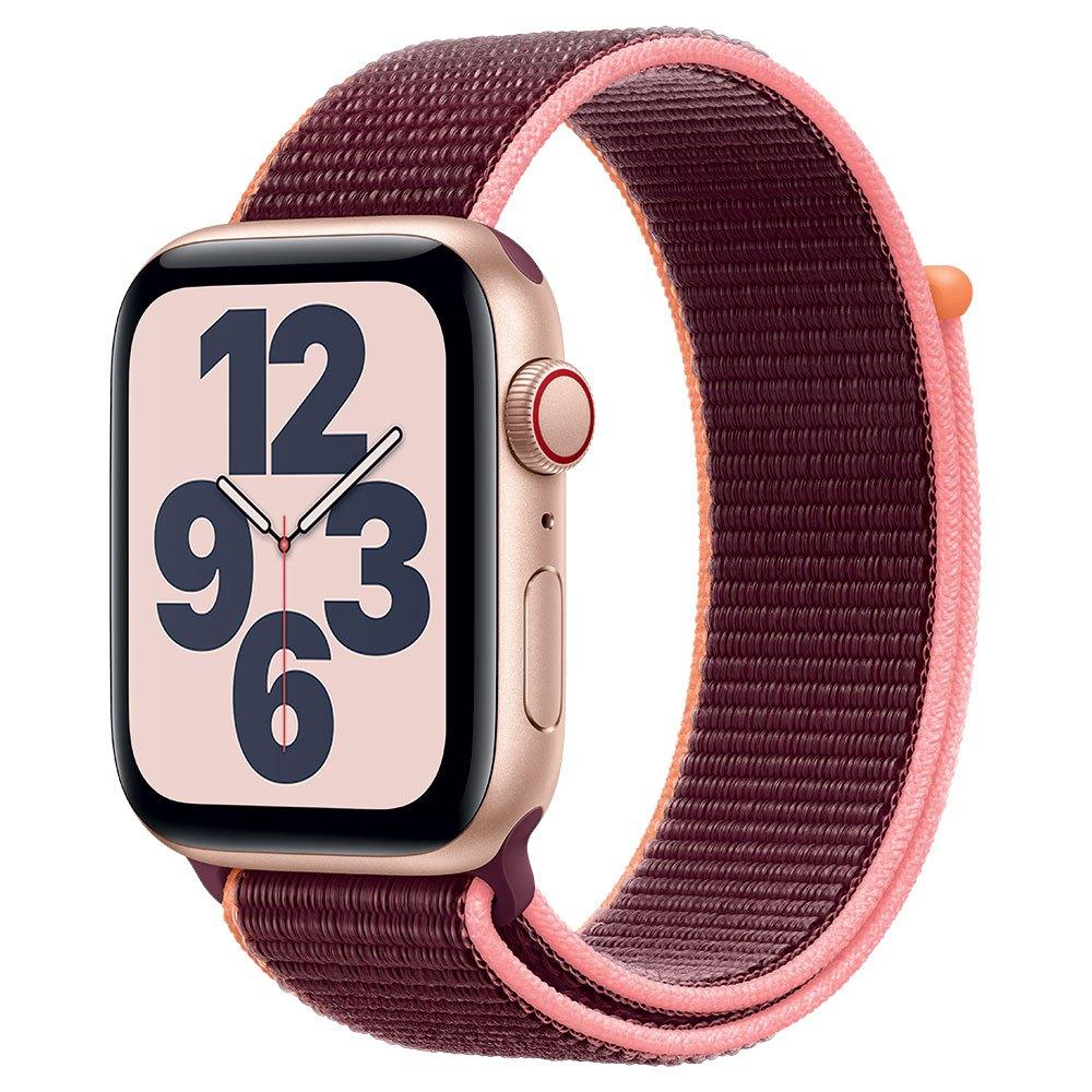 Apple Watch SE Cellular 44 mm aluminio dorado correa deportiva ciruela