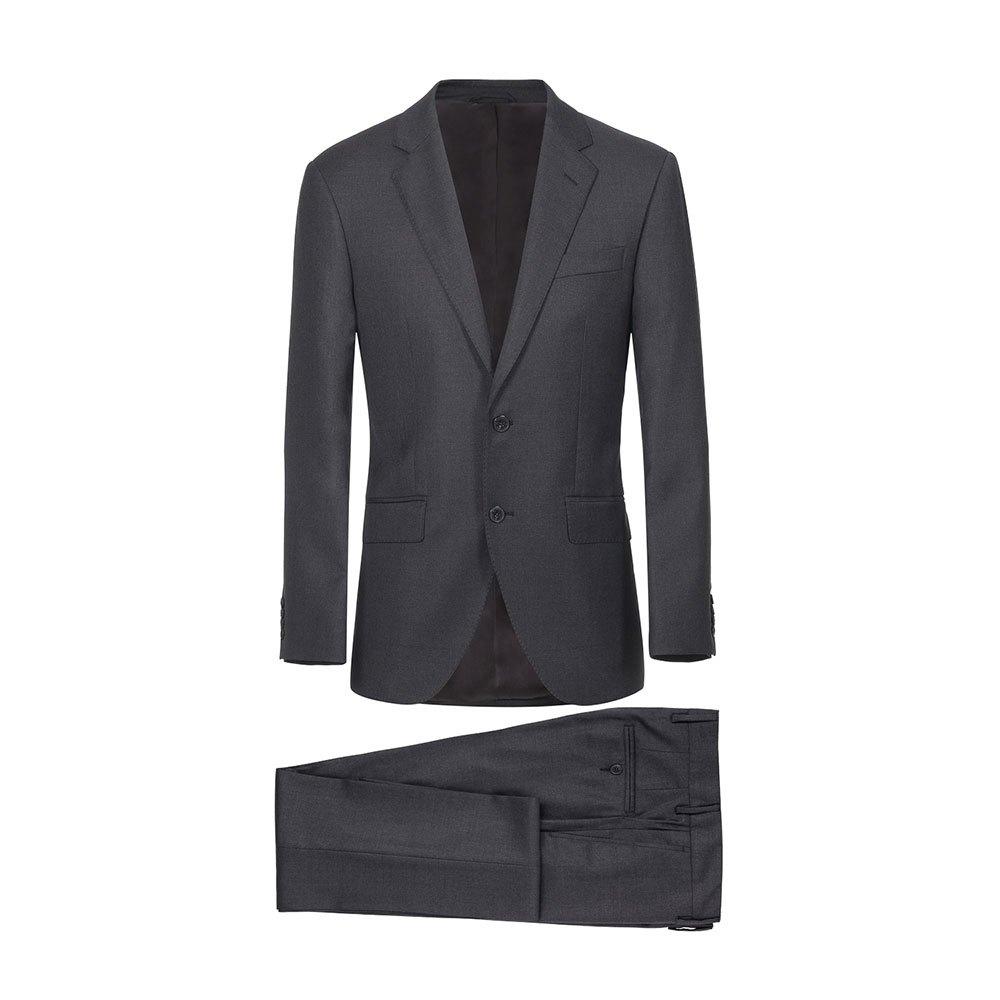 Hackett Lp Plain Wool Button 44 Charcoal