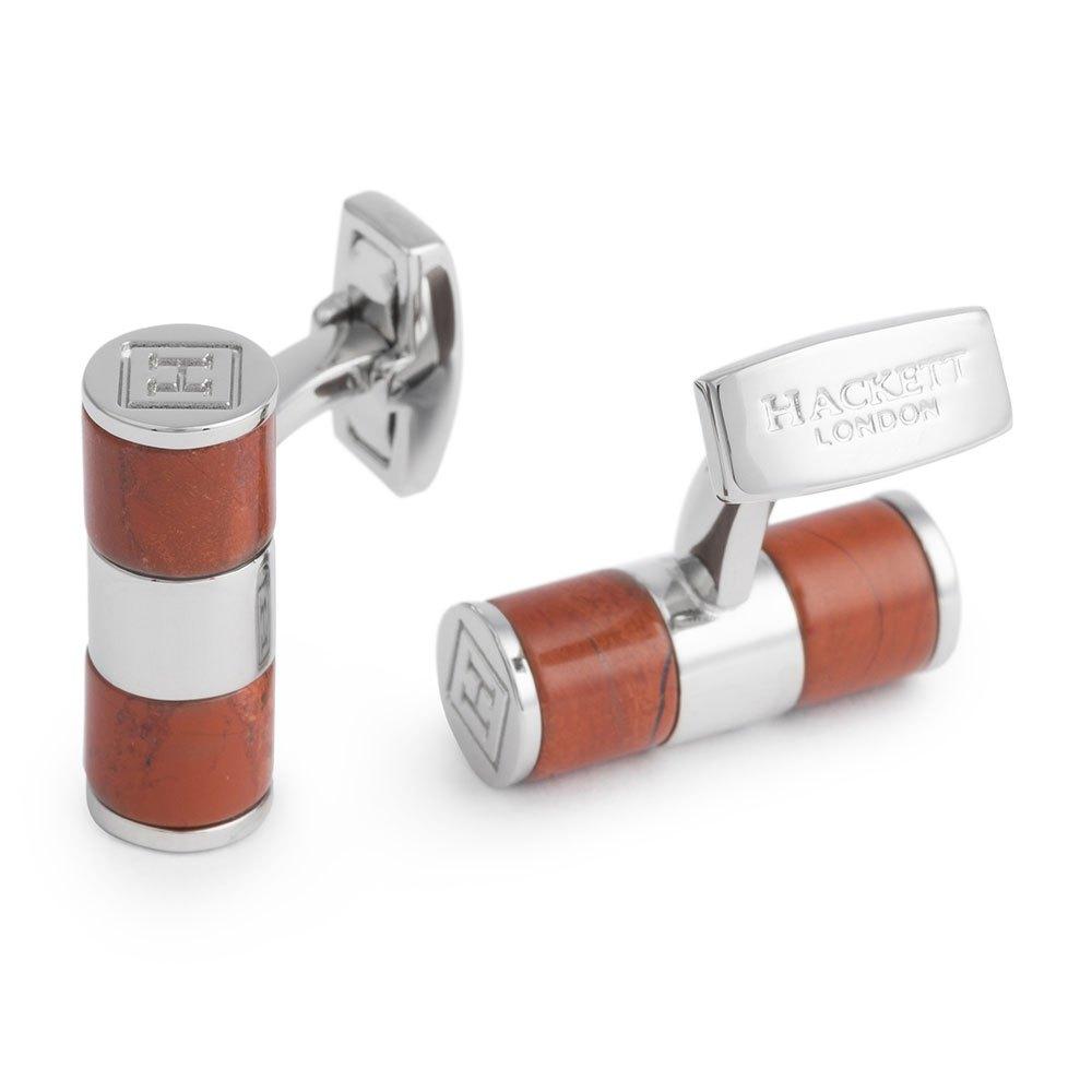 Hackett Semi Precious Manschettenknöpfe One Size Red / Silver günstig online kaufen