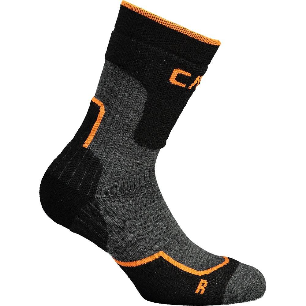 Cmp Chaussettes Trekking Wool Mid EU 31-33 Black / Arancio