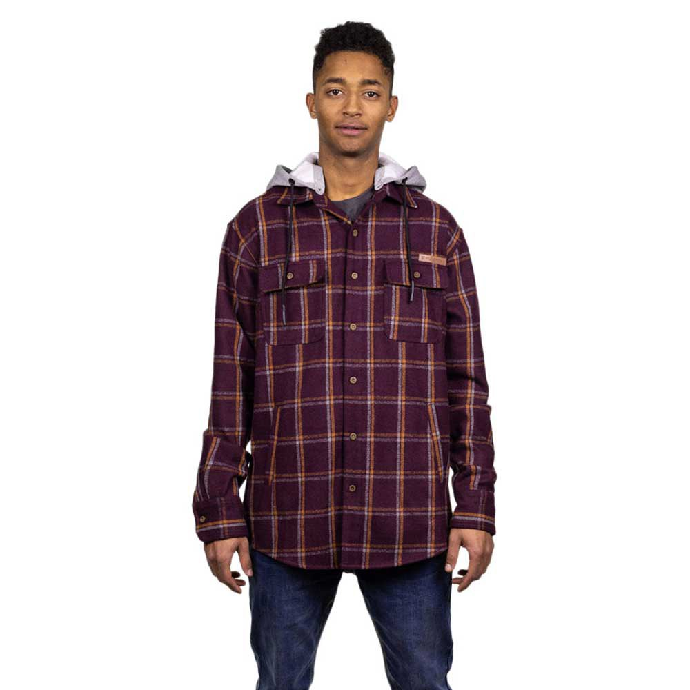 Hydroponic Offshore XL Burgundy Check