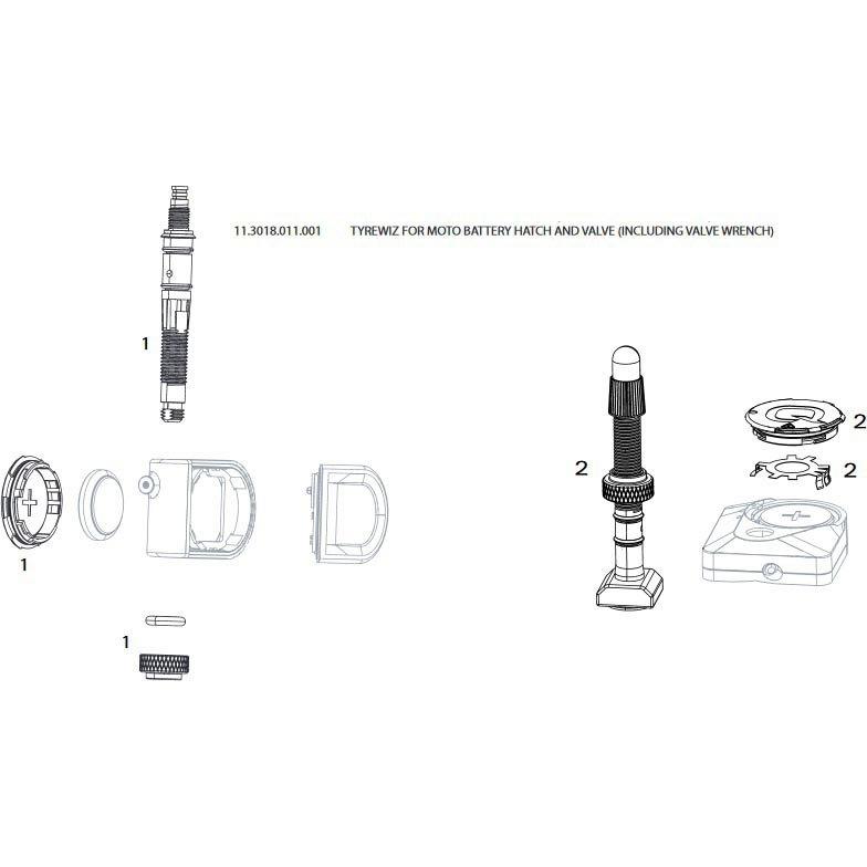 Quarq Tyrewiz Zipp 3zero Moto Battery Hatch+valve One Size Black