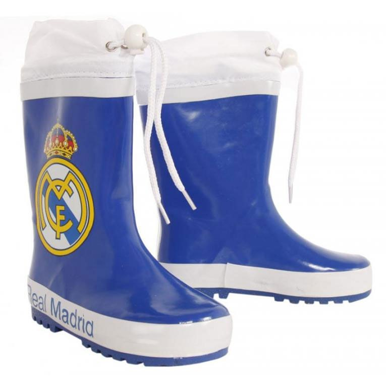 Real Madrid Rain Boots EU 24 Blue / White