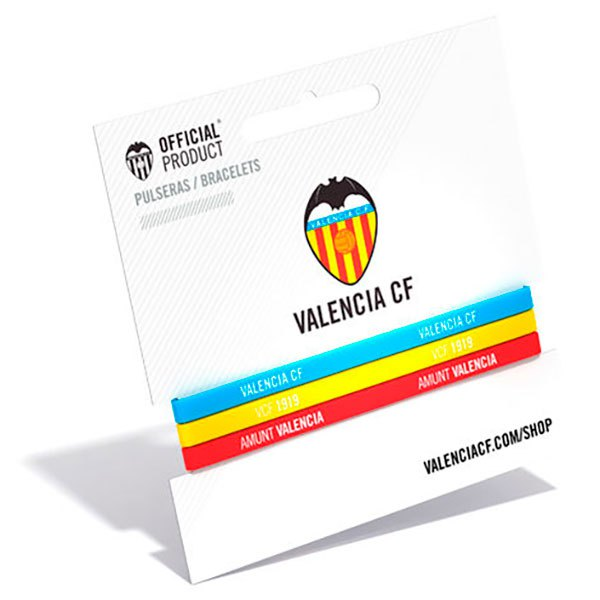 Valencia Cf Tricolor Classic 3 Units One Size Blue / Yellow / Red