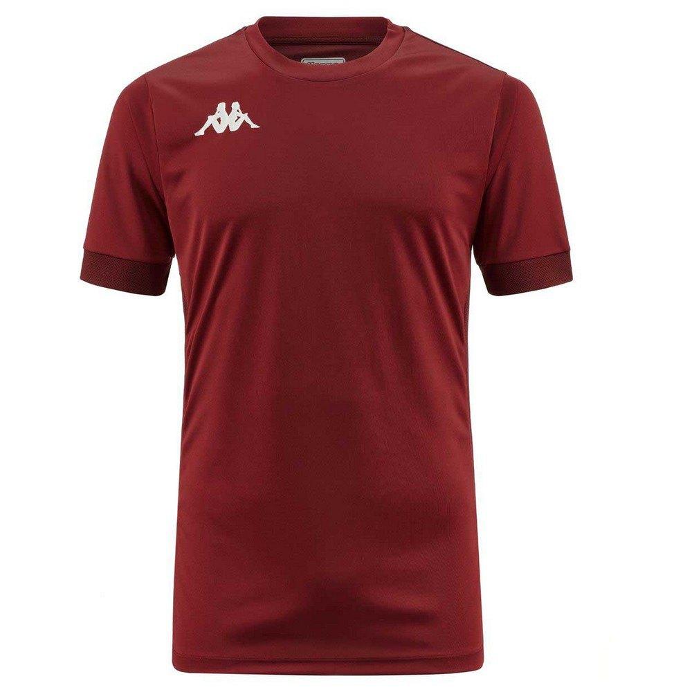 Kappa T-shirt Manche Courte Dervio 10 Years Red Granata / Brown Bordeaux
