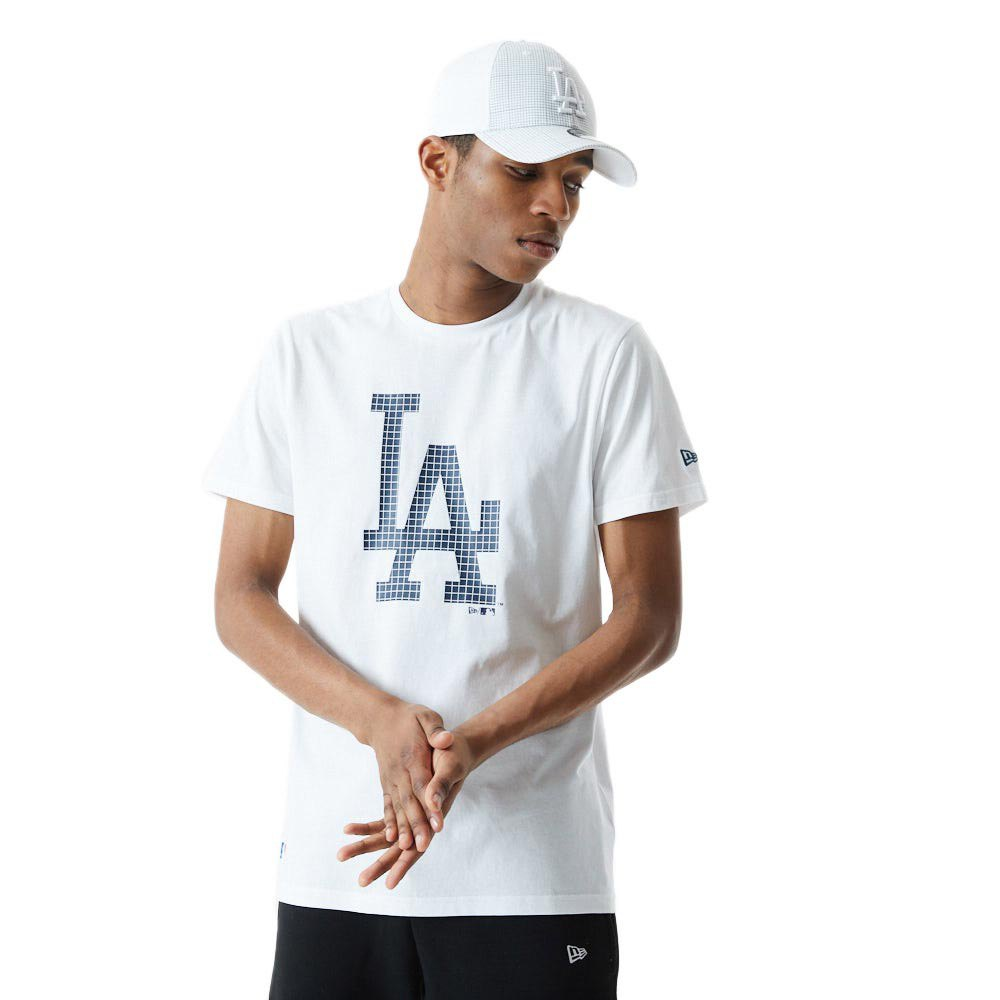 New Era Mlb Infill Team Logo Los Angeles Dodgers M White