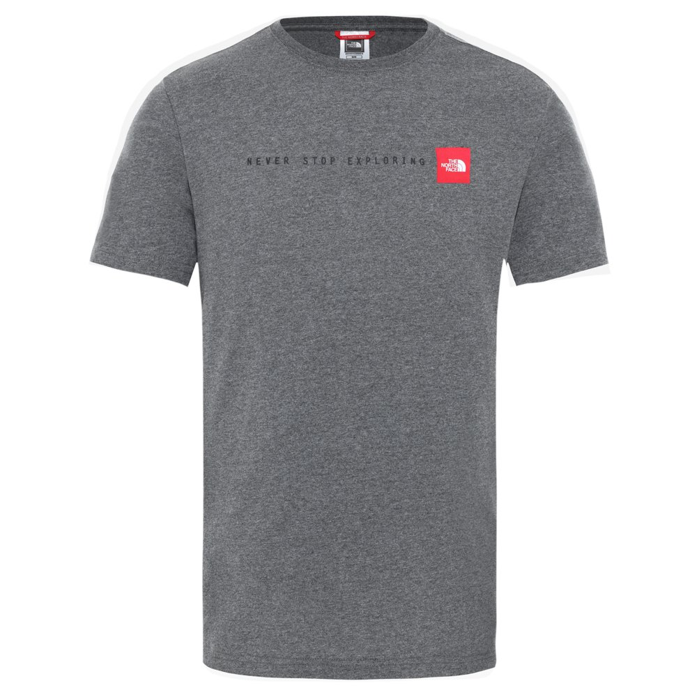 The North Face T-shirt Manche Courte Never Stop Exploring L TNF Medium Grey Heather/ TNF Red