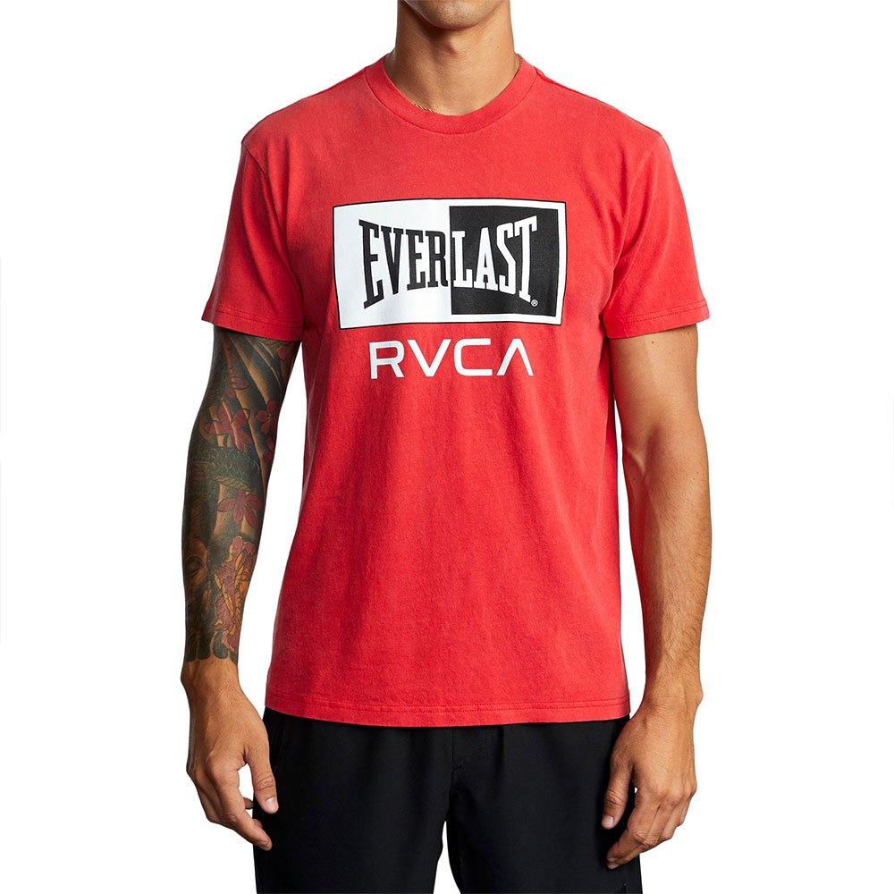 Rvca T-shirt Manche Courte X Everlast Box L Red
