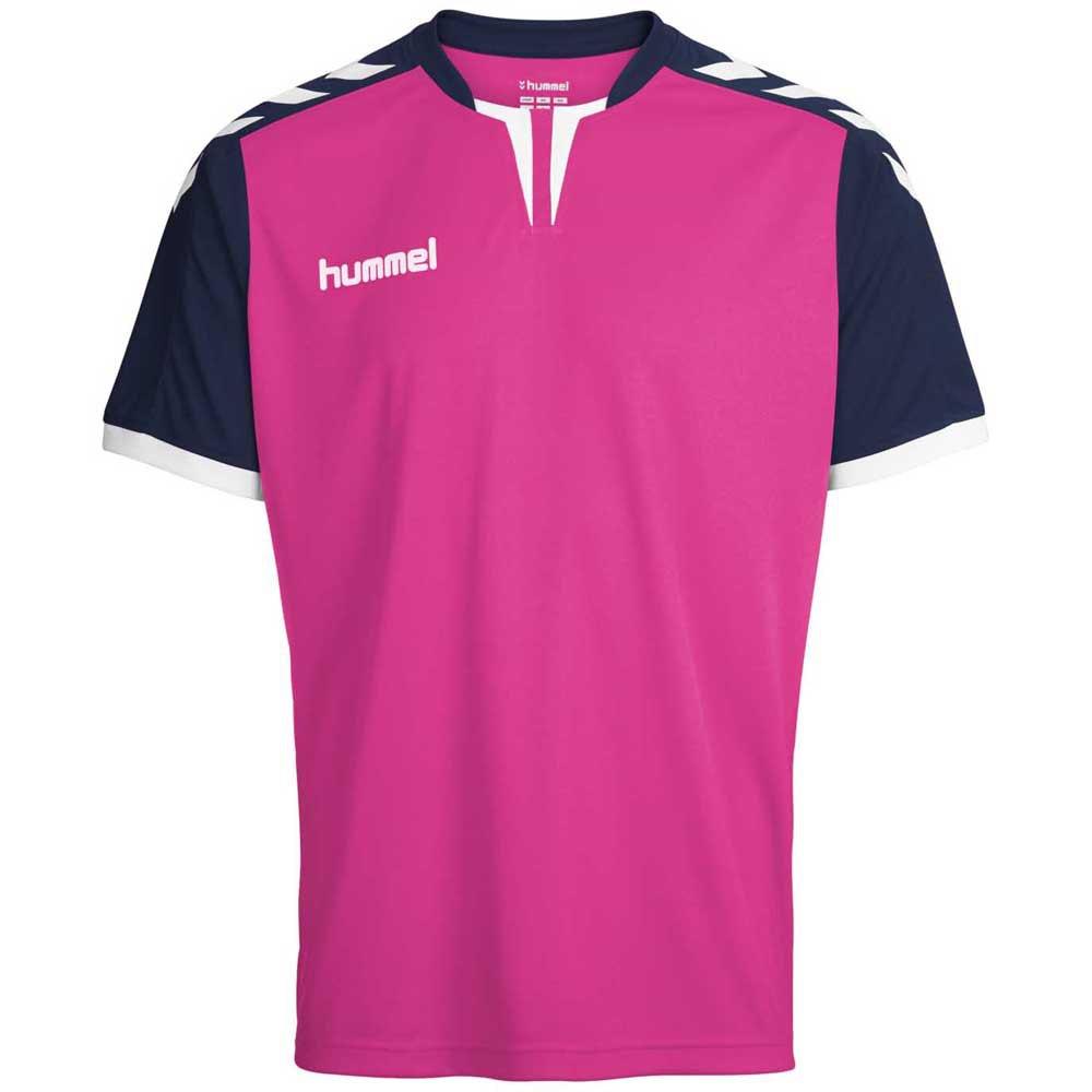 Hummel T-shirt Manche Courte Core Poly S Rose Violet / Marine Pr