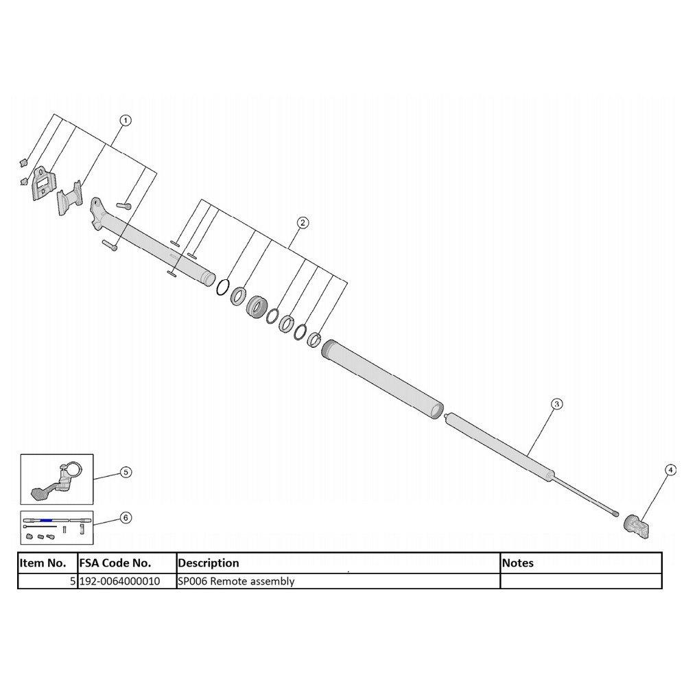 Sillines y tijas Flowtron Remote Control Lever