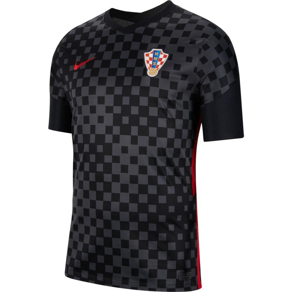 Nike T-shirt Croatie Extérieur Breathe Stadium 2020 M Anthracite / Black / University Red