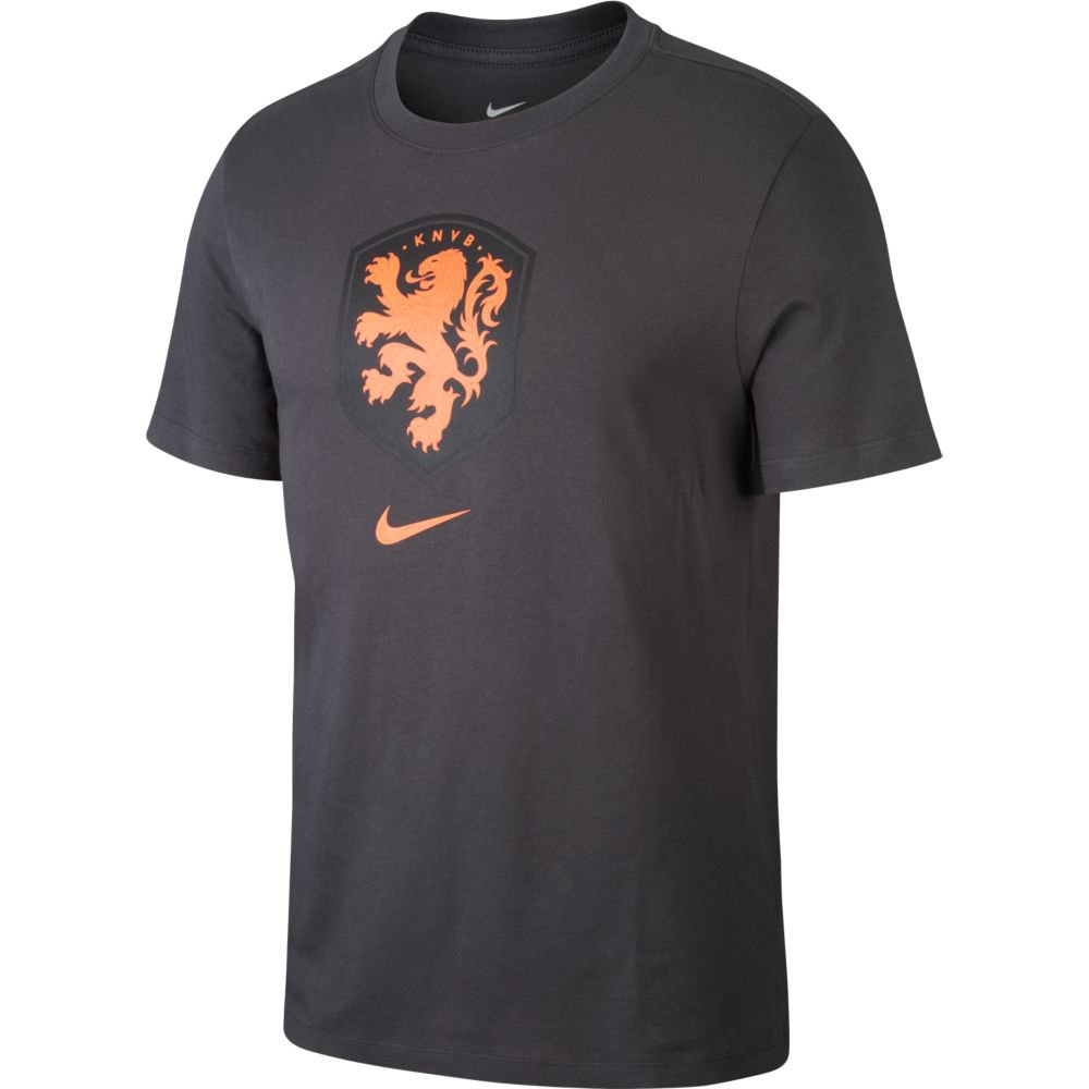 Nike T-shirt Knvb Evergreen Crest 2020 L Anthracite