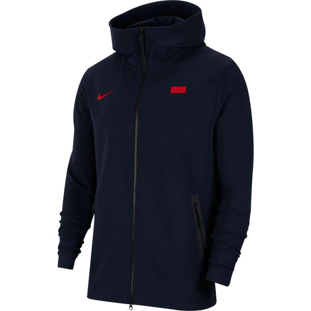 Nike Sweat-shirt France Tech Pack 2020 S Dark Obsidian / University Red