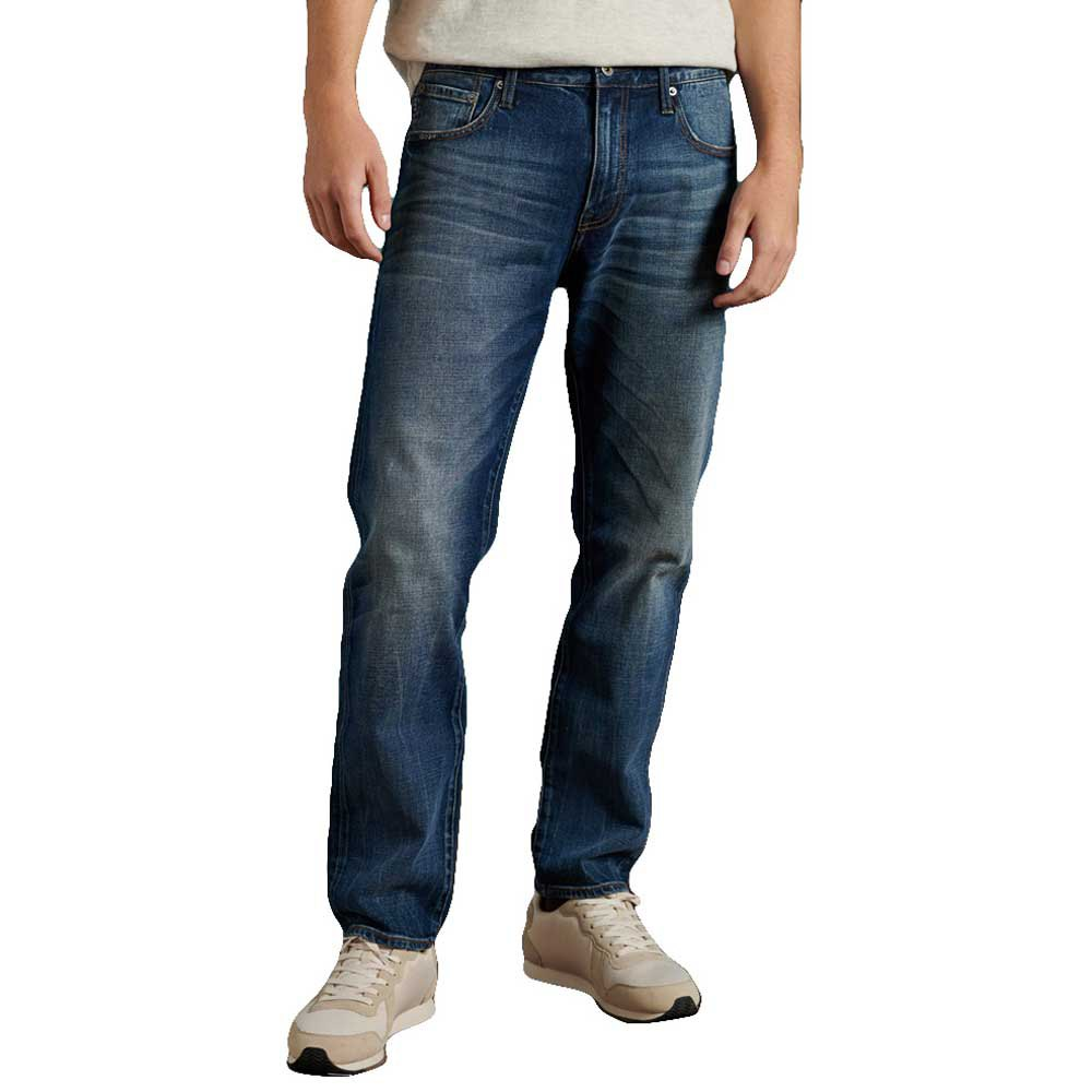 Superdry Tailored Straight 30 Sixway Mid Blue