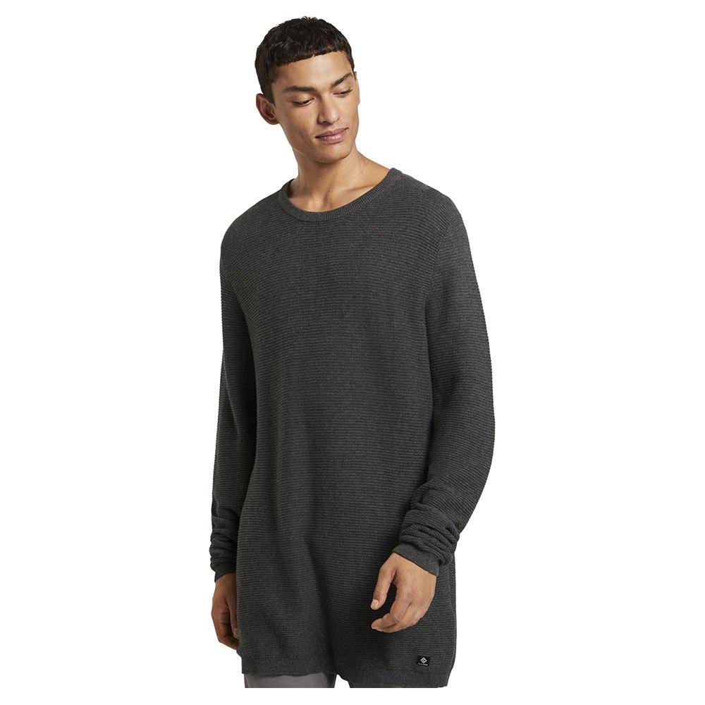 Tom Tailor Textured Sweater M Anthracite Melange