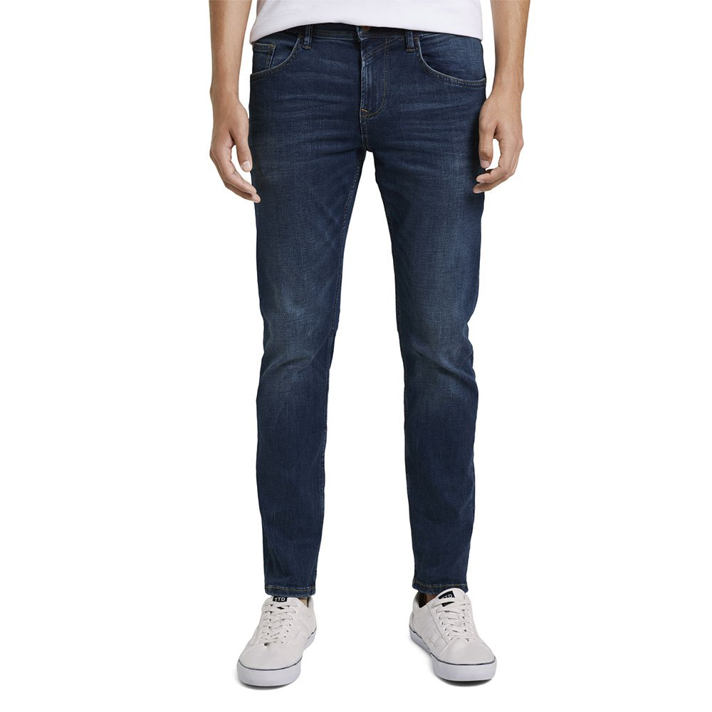 Tom Tailor Slim Piers Soft Stretch Jeans 32 Used Mid Stone Blue Denim