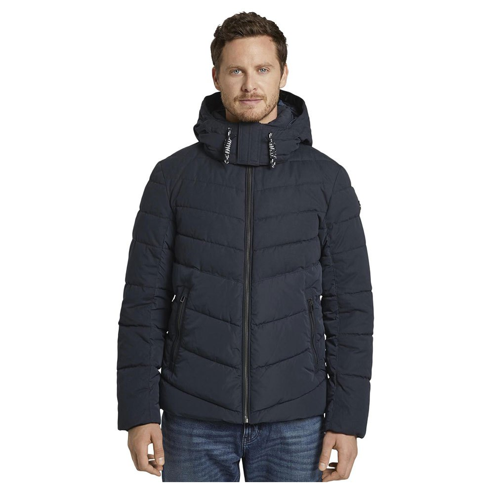 Tom Tailor Buffer Jacket With A Detachable Hood S Sky Captain Blue