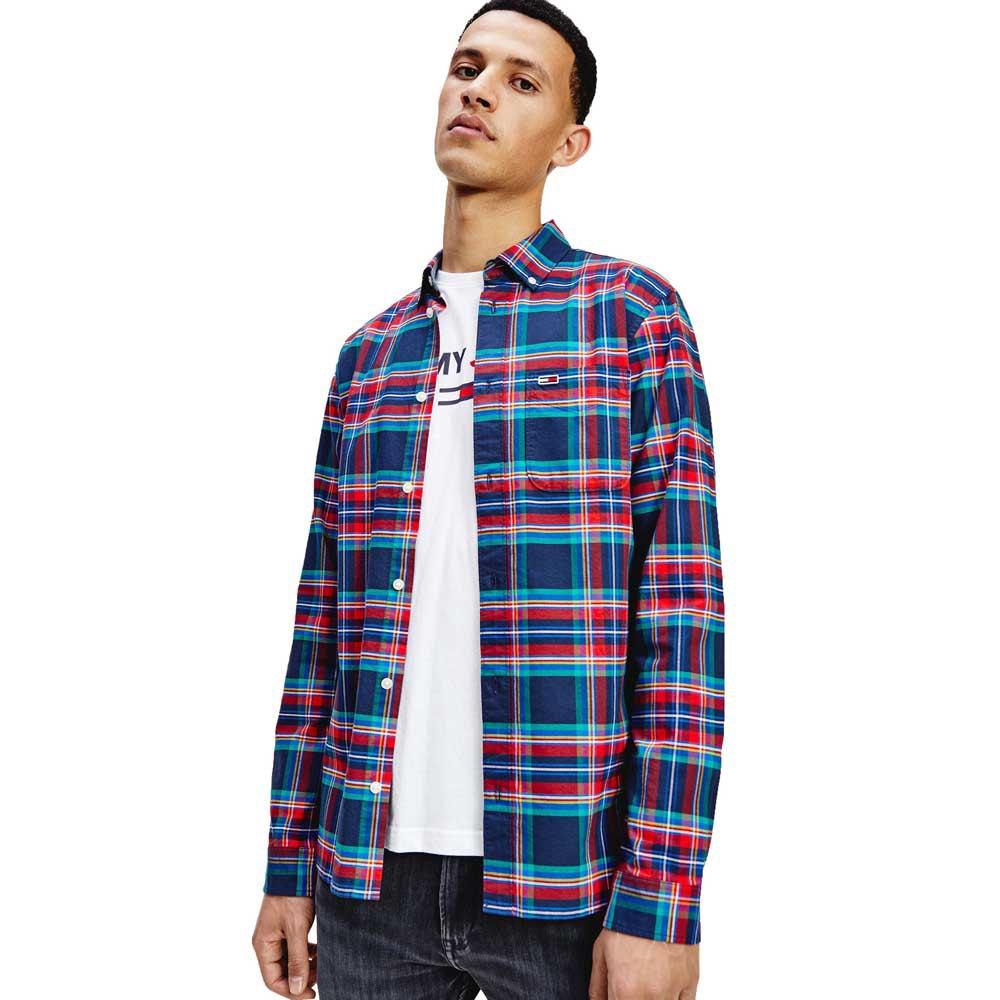 Tommy Jeans Oxford Check M Deep Crimson / Multi