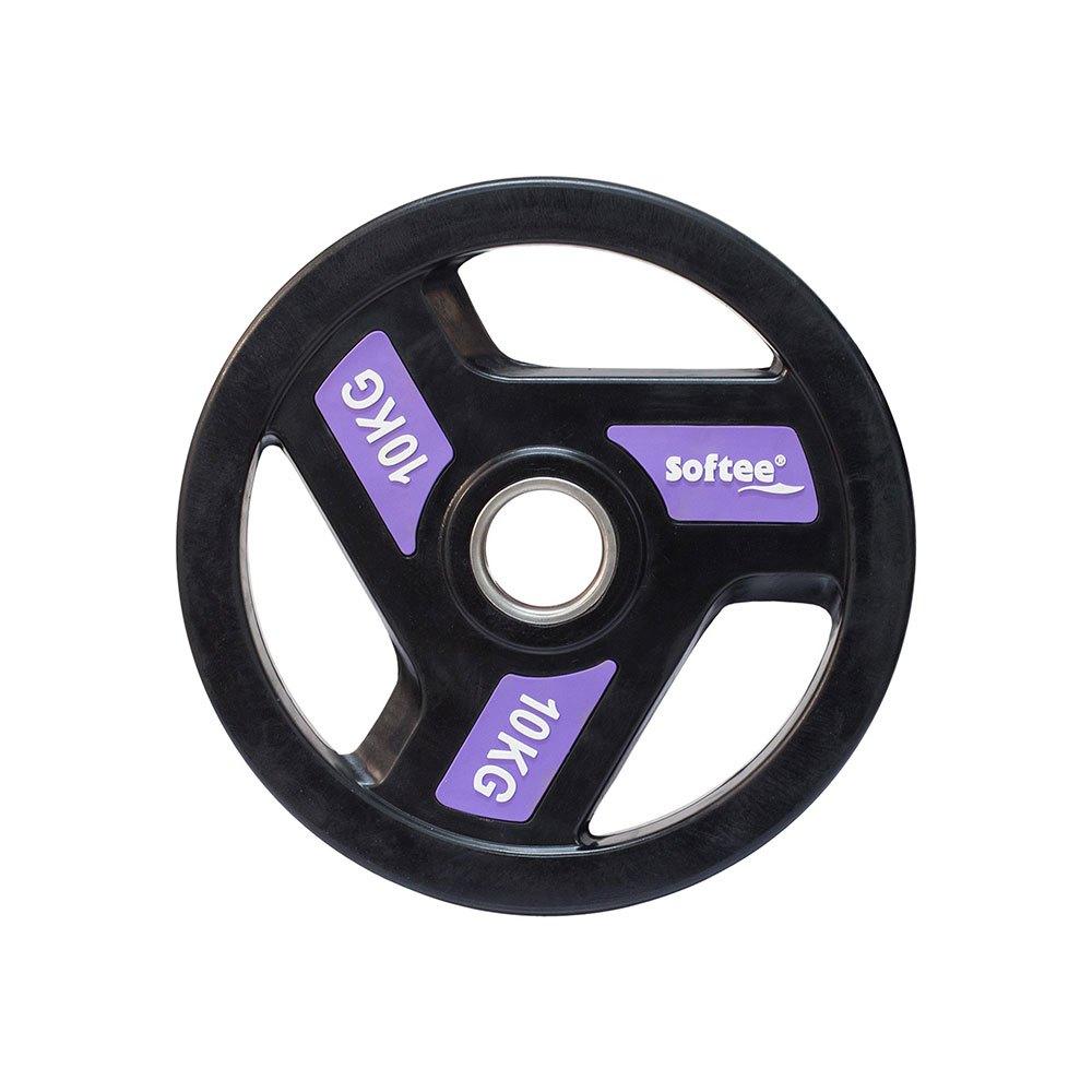 Softee Olympic Disc 10 Kg 10 kg Black