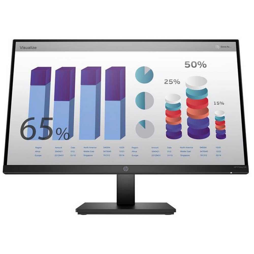 Monitor Hp P24q G4 8mb10aa#abb 24'' Qhd One Size Black