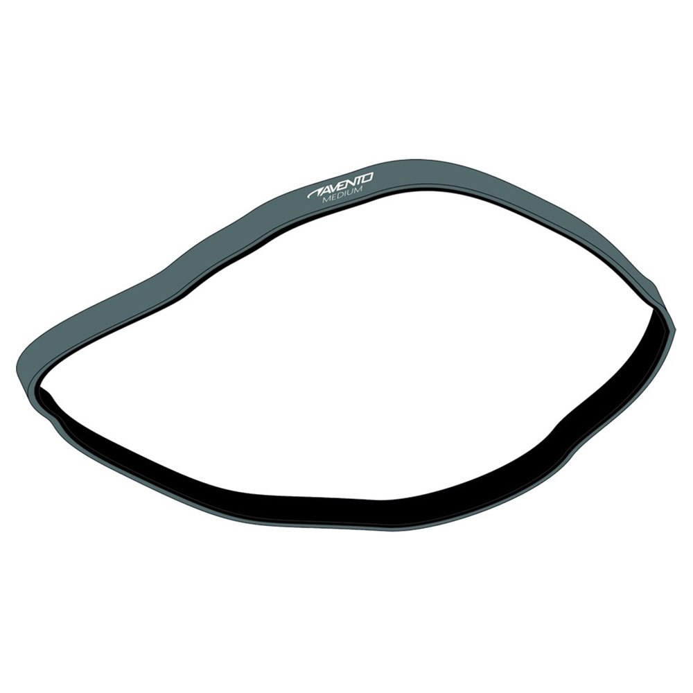 Avento Latex Resistance Band Medium Grey / Black