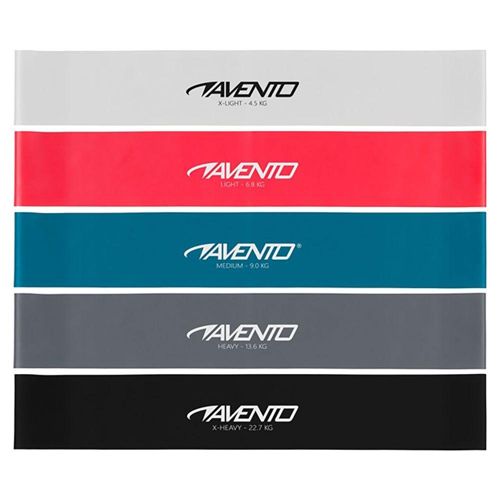 Avento Latex Resistance Band Set One Size Multicolour