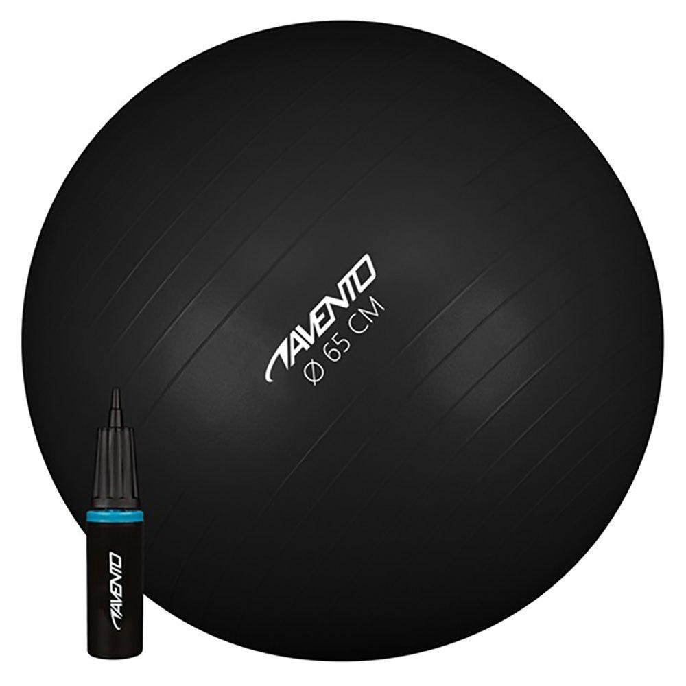 Avento Gymnastics Ball With Hand Pump 65 cm Black