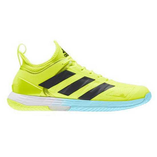Adidas Badminton Adizero Ubersonic 4 Clay EU 46-48 Solar Yellow / Core Black / Hazy Sky