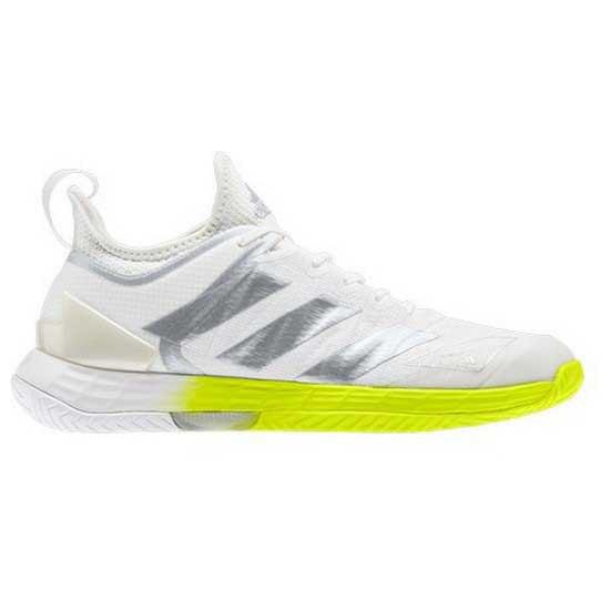 Adidas Badminton Adizero Ubersonic 4 EU 39 1/3 Ftwr White / Silver Met / Solar Yellow