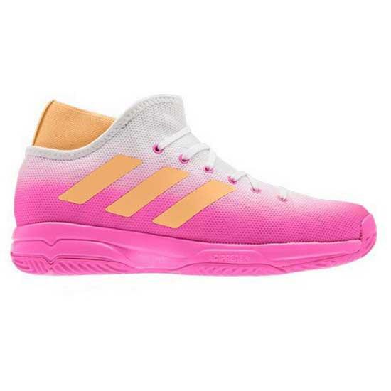 Adidas Badminton Phenom EU 39 1/3 Screaming Pink / Acid Orange / Ftwr White