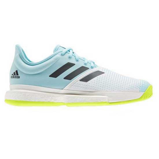 Adidas Badminton Sole Court Hard Court EU 46-48 Ftwr White / Core Black / Solar Yellow