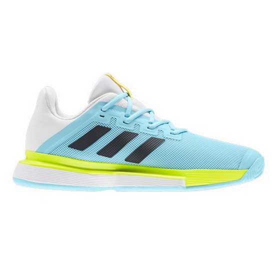 Adidas Badminton Chaussures Surface Dure Sole Match EU 46-48 Hazy Sky / Core Black / Solar Yellow