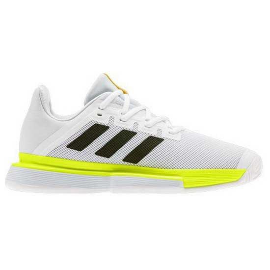 Adidas Badminton Sole Match Bounce EU 39 1/3 Ftwr White / Core Black / Solar Yellow