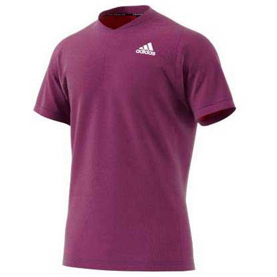 Adidas Badminton Polo Manche Courte Freelift Primeblue L Semi Night Flash / Scarlet