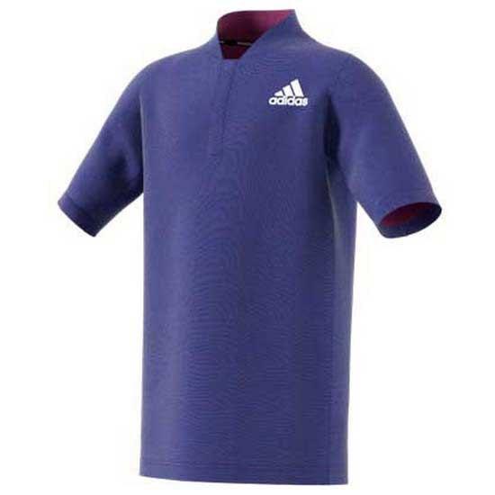 Adidas Badminton Polo Manche Courte Roland Garros 9-10 Years Semi Night Flash Mel / Scarlet