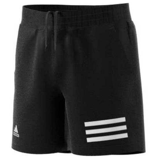Adidas Badminton Club 3 Stripe 11-12 Years Black / White