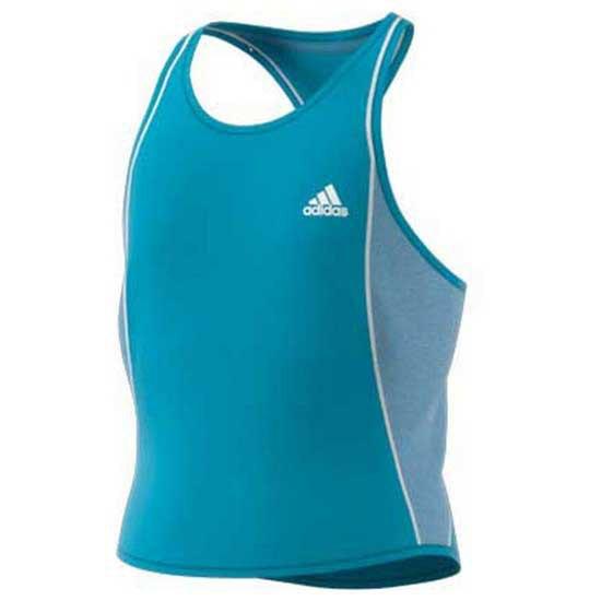 Adidas Badminton T-shirt Sans Manches Pop Up 152 cm Hazy Blue / White
