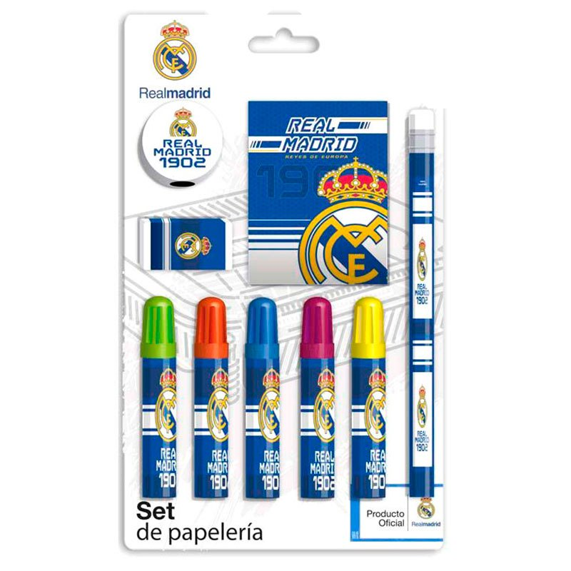 Cyp Brands Real Madrid Stationery Set 9 Pack One Size White / Blue