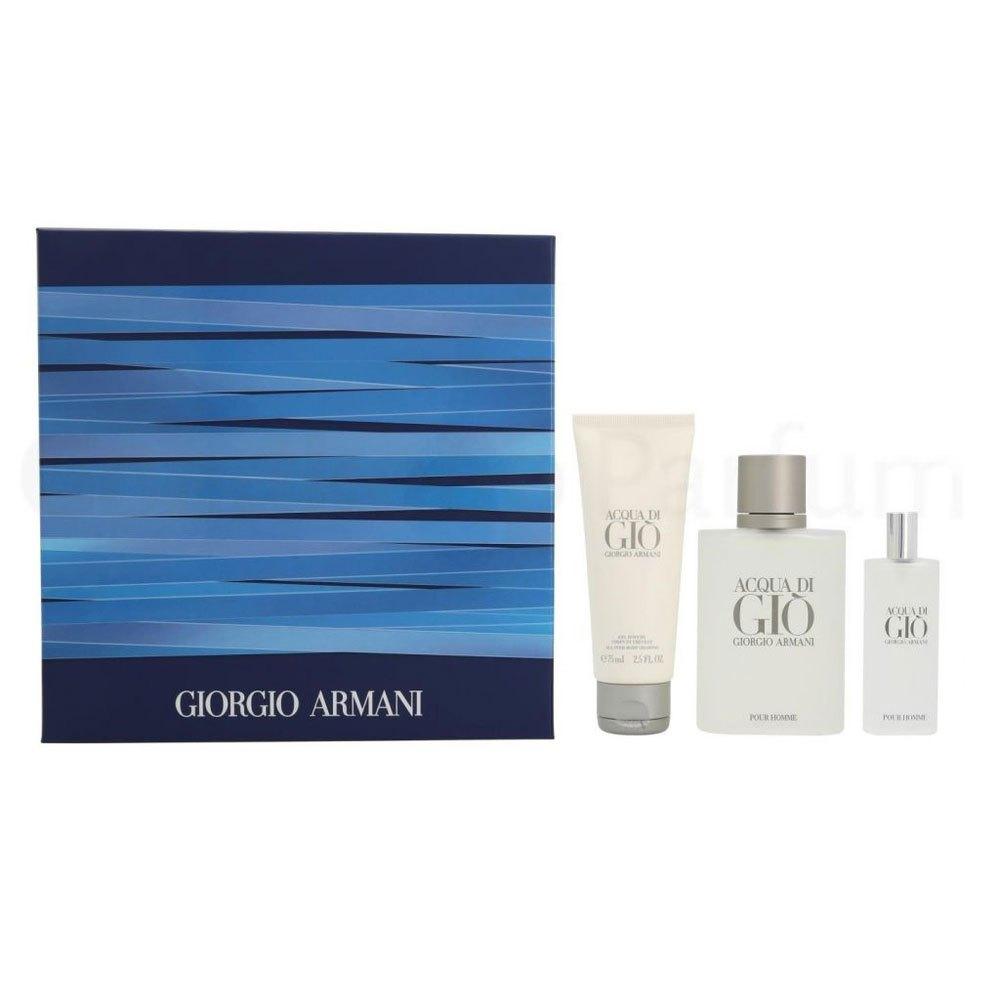 Giorgio Armani Acqua Di Gio Homme Eau Toilette 100ml + Eau Toilette 15ml + Shower Gel 75ml One Size