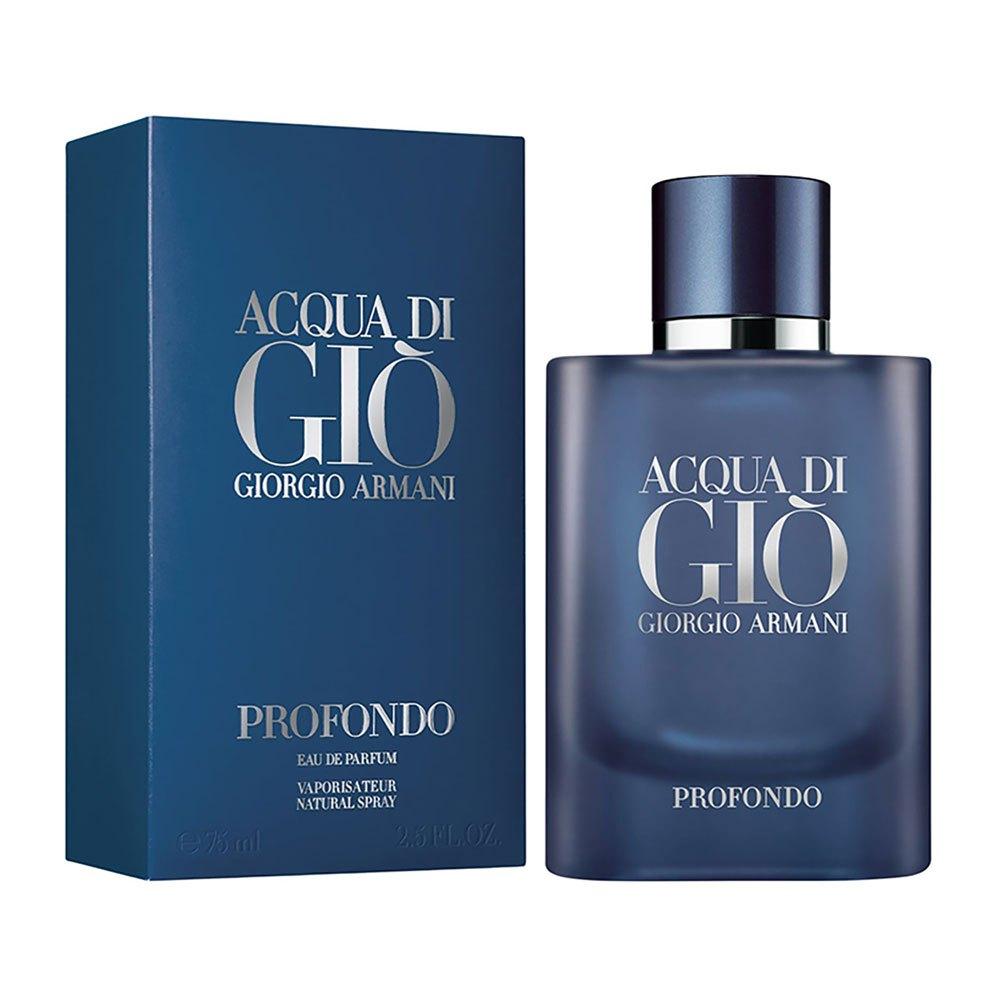 Giorgio Armani Acqua Di Gio Profondo Eau De Parfum 75ml Vapo One Size Blue / Silver