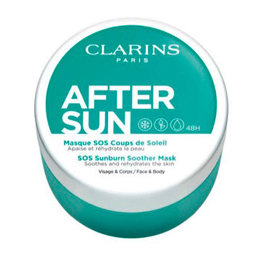 Clarins After Sun Sos Sunburn Soother Mask 100ml One Size Green