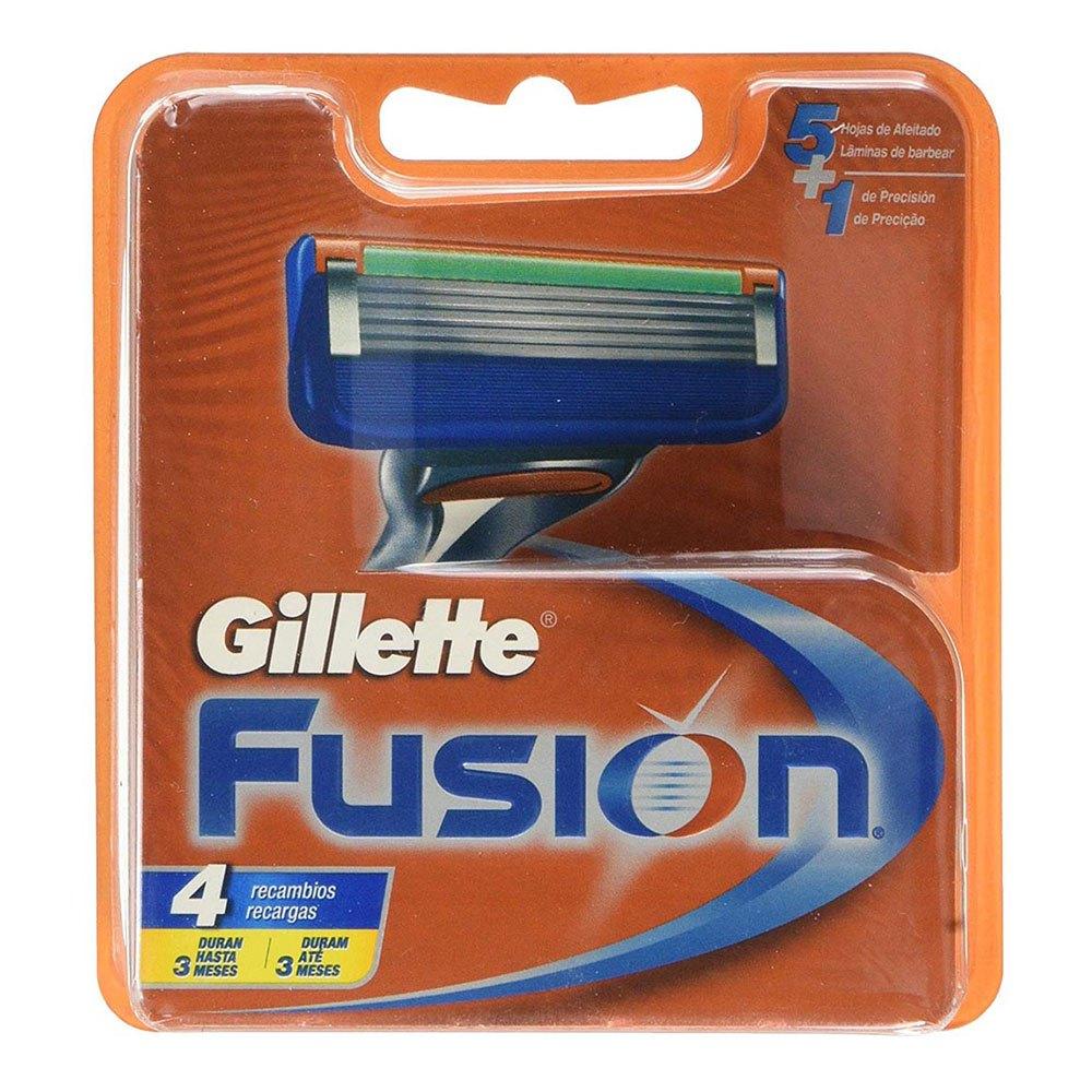 Gillette Fusion Cartridges 4 Units One Size Orange / Blue