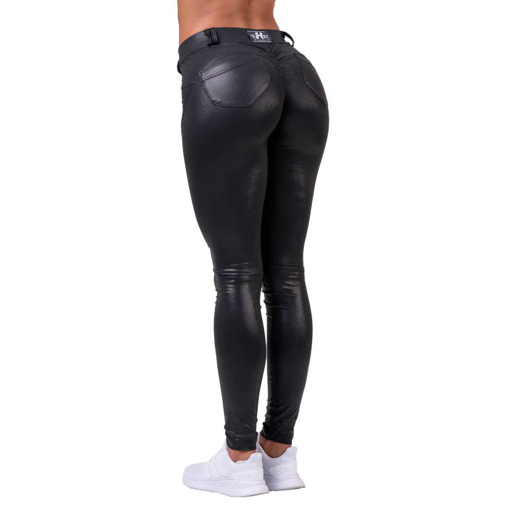Nebbia Legging Squat Proof Bubble Butt XS Black