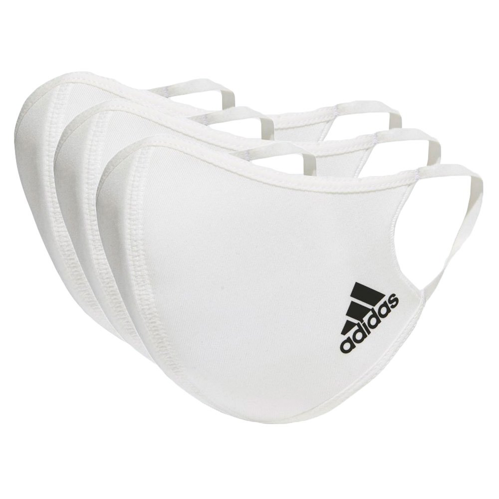 Adidas Face Cover 3 Units M-L White